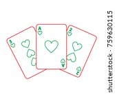 poker cards casino deck... | Shutterstock .eps vector #759630115