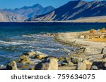 beautiful view of pangong lake  ... | Shutterstock . vector #759634075