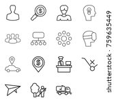 thin line icon set   man ... | Shutterstock .eps vector #759635449