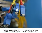 optic fiber cables with sc type ... | Shutterstock . vector #759636649