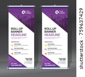 roll up banner design template  ... | Shutterstock .eps vector #759637429