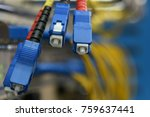 optic fiber cables with sc type ... | Shutterstock . vector #759637441