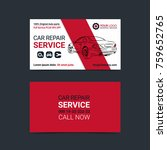 automotive service business... | Shutterstock .eps vector #759652765