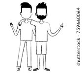 couple of male friends avatars | Shutterstock .eps vector #759660064