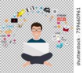 digital marketing specialist... | Shutterstock .eps vector #759660961