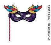 mardi gras mask | Shutterstock .eps vector #759661651