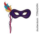 mardi gras mask | Shutterstock .eps vector #759662494