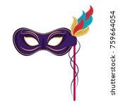 mardi gras mask | Shutterstock .eps vector #759664054