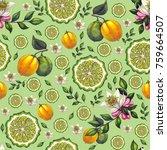 seamless pattern from... | Shutterstock . vector #759664507