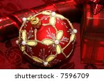 red christmas ball and gift box | Shutterstock . vector #7596709
