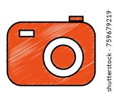 photographic camera isolated... | Shutterstock .eps vector #759679219