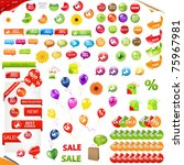 big collection of sale elements ...   Shutterstock . vector #75967981