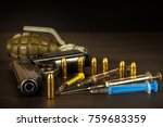 sales of narcotics. weapon and... | Shutterstock . vector #759683359