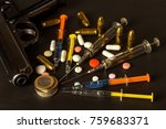 sales of narcotics. weapon and... | Shutterstock . vector #759683371