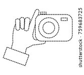hand with photographic camera... | Shutterstock .eps vector #759683725