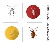 cockroach icon. flat design ... | Shutterstock .eps vector #759684061