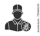 exterminator glyph icon. pest... | Shutterstock .eps vector #759684145