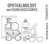 set of medical optometry... | Shutterstock .eps vector #759685975