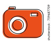 photographic camera isolated... | Shutterstock .eps vector #759687709