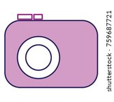 photographic camera isolated... | Shutterstock .eps vector #759687721