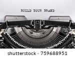build your brand typed words on ... | Shutterstock . vector #759688951