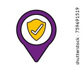 shield protection check social... | Shutterstock .eps vector #759691519