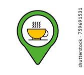 restaurant social media round... | Shutterstock .eps vector #759691531