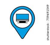 monitor social media round... | Shutterstock .eps vector #759691549