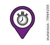 chronometer social media square ... | Shutterstock .eps vector #759691555