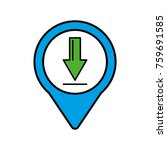 download social media round... | Shutterstock .eps vector #759691585