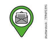 email message social media... | Shutterstock .eps vector #759691591