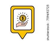 investment money social media... | Shutterstock .eps vector #759692725