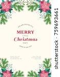 floral vintage invitation card... | Shutterstock .eps vector #759693661