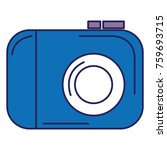 photographic camera isolated... | Shutterstock .eps vector #759693715