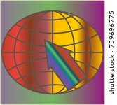 new colorful gradient www globe ... | Shutterstock . vector #759696775