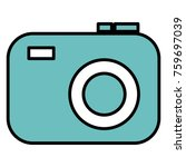photographic camera isolated... | Shutterstock .eps vector #759697039