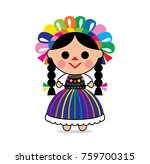 cute illustration of a mexican... | Shutterstock .eps vector #759700315