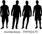 black silhouette of a man. | Shutterstock .eps vector #759702175