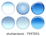 blue blank icon set   Shutterstock . vector #7597051