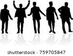 black silhouette of a man.   Shutterstock .eps vector #759705847