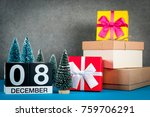 december 8th. image 8 day of...   Shutterstock . vector #759706291