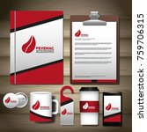 corporate identity mock up | Shutterstock .eps vector #759706315