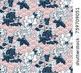japanese traditional vector... | Shutterstock .eps vector #759709051