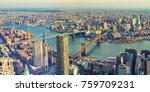 panoramic view of manhattan and ... | Shutterstock . vector #759709231