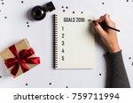 goals plans dreams make to do... | Shutterstock . vector #759711994