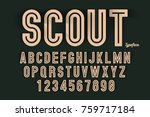vector decorative bold font... | Shutterstock .eps vector #759717184