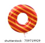 gold and red balloon stripe... | Shutterstock . vector #759719929