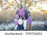 beautiful bi racial family... | Shutterstock . vector #759724201