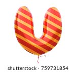 Gold And Red Balloon Stripe...