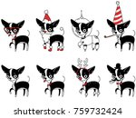 a set of drawings with a... | Shutterstock .eps vector #759732424